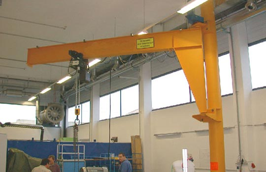 BZ type pillar fixed jib crane