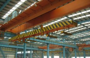 QC Double Girder Overhead Crane With Magnet