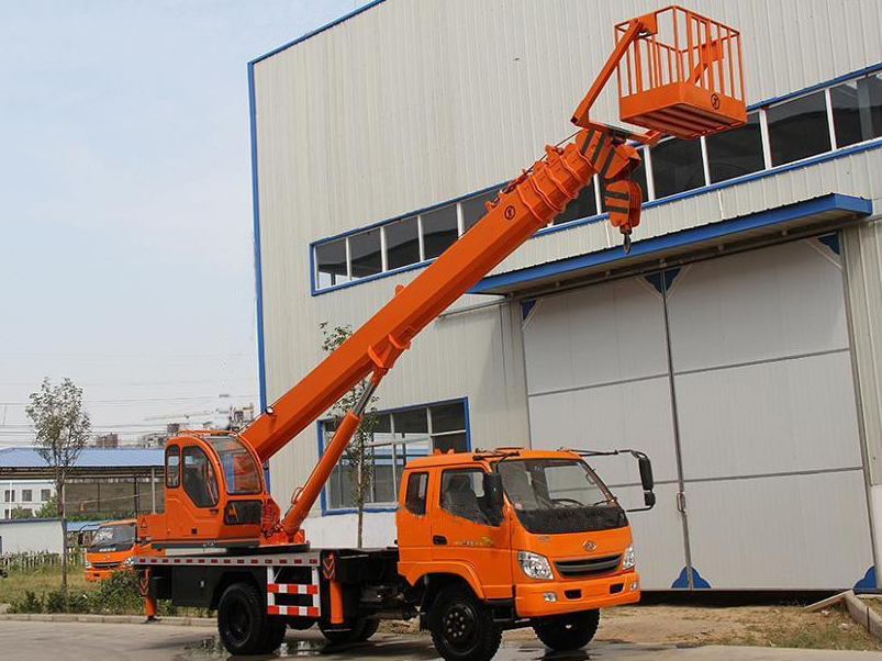 Telescopic Boom Truck Crane With Aerial Working Platform