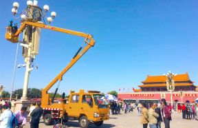 Knuckle Boom Truck Crane With Aerial Working Platform
