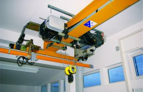 FEM/DIN Single Girder Overhead Crane With Monorail Hoist
