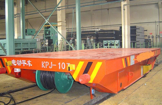 Rail Guided Motorized Transfer Cart With Cable Winder