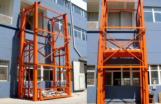 Vertical Guide Rail Hydraulic Platform Cargo Lifts