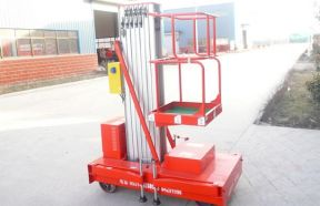 Vertical Aluminum Masts Aerial Work Platform Lifts