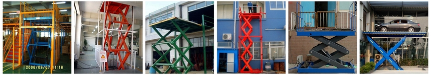 Stationary Hydraulic Scissor Cargo Lift