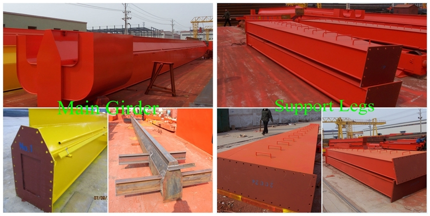 single girder gantry crane structure and control