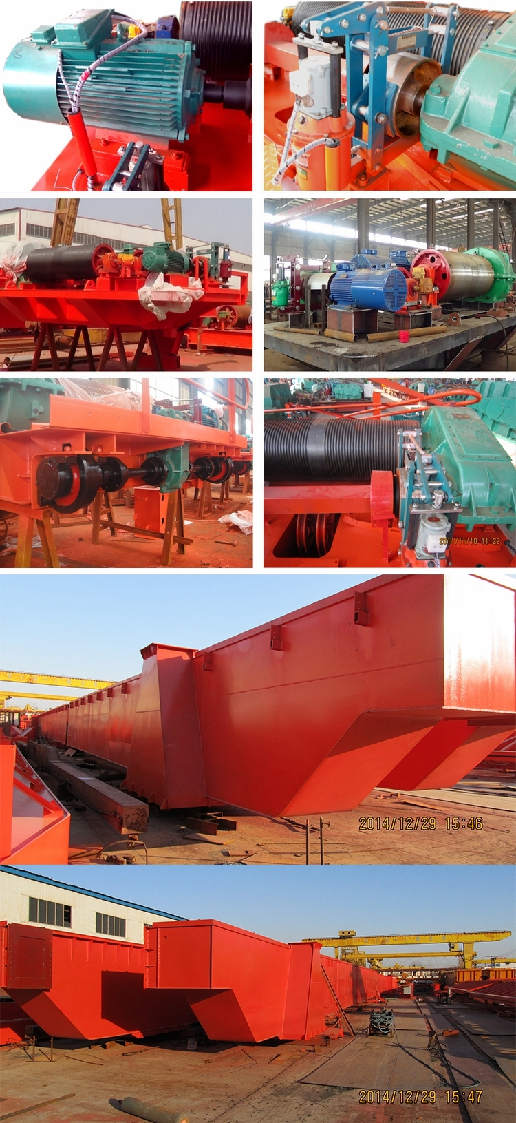 QD double girder overhead crane exporting to Iraq