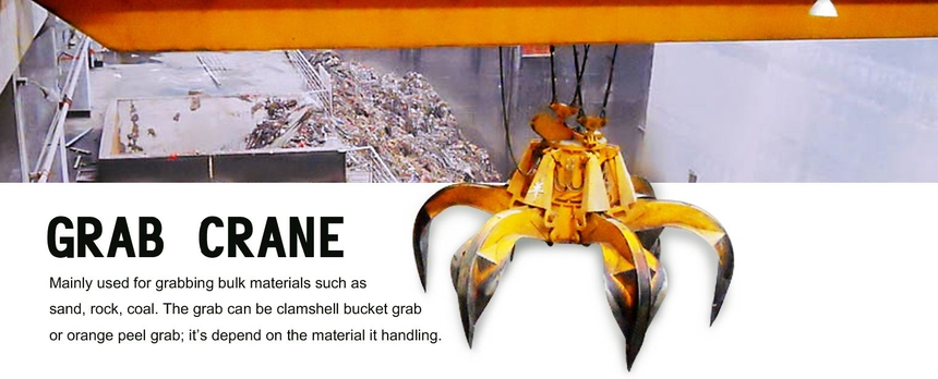 Grab bucket bridge crane